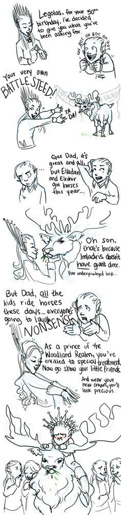 Poor Legolas- but you gotta love the moose right?