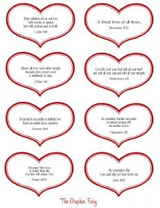 Free Downloadable PDF Valentine Hearts with Scripture page 2