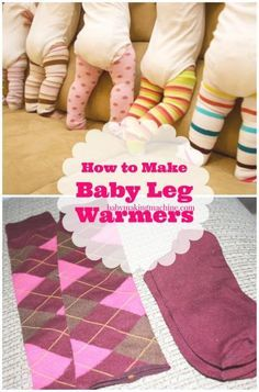 how to make baby leg warmers Girls Leg Warmers, Baby Leg Warmers, Baby Gifts To Make, Baby Girl Costumes, New Baby Products, Baby Tights, Baby Leggings, Sew Baby, Making Machine