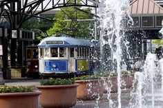 The Riverfront Loop offers outstanding views of the Mississippi River and the fare is only a $1.