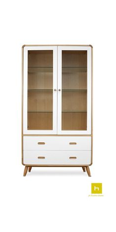 The Enza Display Cabinet is of modern Scandinavian inspired design, which features clean lines and a uniquely simple style.  #furniture #display #design #interiordesign