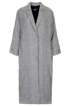 Manteau pied-de-poule long TopShop