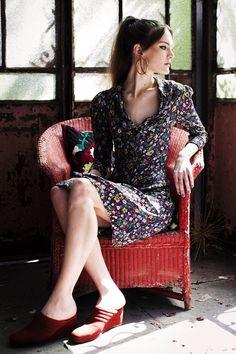 JANE WEARING A MAGGIE DRESS