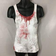 Bite Me Zombie Scary Horror Movie Vampire Blood Boy Beater Tank Top