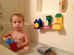Start your youngest's boating adventures with toy boats in the bathtub!