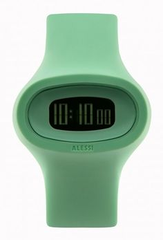 Buy the Alessi Men's Jak Polyurethane Green Designed by Karim Rashid Watch, a cool mens watch by Alessi This funky mens watch is currently in stock - buy this funky watch securely on Cool Funky Watches today. Karim Rashid, Simple Watches, Cool Watches, Dezeen Watch Store, Best Watches For Men, Wearable Device, Alessi, Spring Sale, Green Fashion