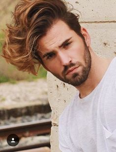 Mens Hairstyles With Beard, Undercut Hairstyles, Hair And Beard Styles, Latest Hairstyles, Haircuts For Men, Curly Hair Styles, Cool Hairstyles, Barber Shop Haircuts, Trending Haircuts