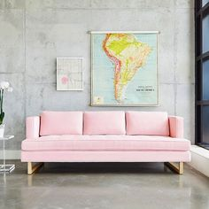 Sofa Aubrey Velvet Blush par Gus*