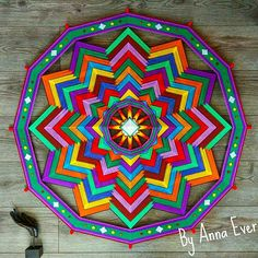 *The mandala will be made for you to order! *The price is for a mandala with a size of 35, 4 inches / 90 cm. You can order a similar mandala of a different size (from 40 cm to 90 cm). *The cost of the mandala depends on its size. * Production time depends on the size of the mandala