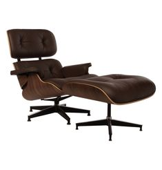 The Matt Blatt Replica Eames Lounge Chair and Ottoman - Premium Version by Charles and Ray  sc 1 st  Pinterest & Eames Lounge Chair Replica - Black Classic - Buy Lounge Chairs ...