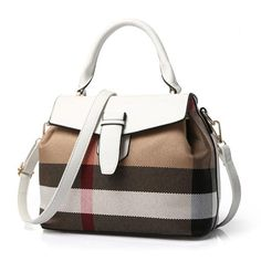 a1d1ed5bcd76 New Famous Designer Handbags Contracted Stripe Canvas Women Small Shoulder  Bag With Lock Catch Female Messenger Bag