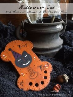 "THE PRIMITIVE HARE ""Halloween Cat"" 