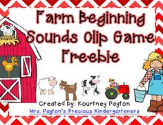 Beginning Sounds Clip Game - FREE!!!!