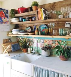 66 Cozy Small Apartment Decorating Ideas On A Budget Ideas for the House Küchen Design, House Design, Interior Design, Design Ideas, Boho Kitchen, Kitchen Decor, Summer Kitchen, Kitchen Furniture, Furniture Design