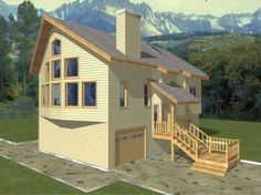 House plans on pinterest house plans american houses for Prow front home plans