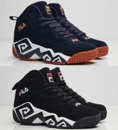 MEN's fila MB Sneakers. The MB off the bat features an iconic-signature design on the black and white midsole, FILA Buck on the upper to go along with a mesh combination on the tongue. Fila shoes size chart. | eBay!
