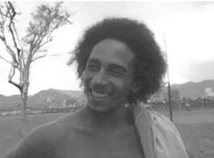Bob Marley- beginning to let his hair grow.