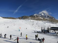 Skiers enjoying a go on Mt. Crested Butte.