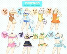 OPEN Pokemon Themed Outfit Adoptable 13 by BlackQuose Fashion Design Drawings, Fashion Sketches, Mery Chrismas, Drawing Anime Clothes, Clothing Sketches, Anime Dress, Themed Outfits, Anime Outfits, Pokemon Outfits