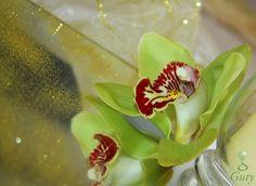 Svadobná dekorácia orchidea na zrkadle wedding centerpieces decorations