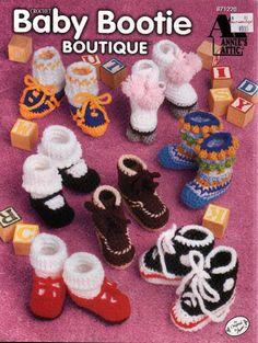 Baby bootie magazine (crochet) https://picasaweb.google.com/115508507274722175229/ZapatitosAPalillo?noredirect=1