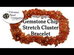 How to Make a Gemstone Chip Cluster Stretch Bracelet. OUR WEBSITE: (US) . This tutorial video from The Potomac Bead Company teaches you how to make a gemstone chip cluster stretch bracelet. These bracelets can be made with nearly any type of Diy Bracelets And Anklets, Crystal Bracelets, Stretch Bracelets, Handmade Bracelets, Bangles, Jewelry Gifts, Diy Jewelry, Jewelry Ideas, Beaded Jewellery