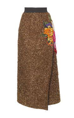 Eyelash Lurex Wrap Effect Skirt by DOLCE & GABBANA for Preorder on Moda Operandi