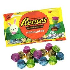 Delicious Reese's Mini Peanut Butter Cups all dressed up for Easter in colorful foils. Reeses Peanut Butter, Peanut Butter Cookies, Easter Candy, Easter Eggs, Paw Patrol Toys, Candy Companies, Cookie Pie, Special Gifts, Cravings