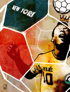 # Cosmos # Pelé The New York Cosmos' Pelé (King of Soccer) Art Print sold at: http://society6.com/EdPires/The-New-York-Cosmos-Pel-King-of-Soccer_Print