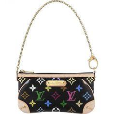 maniaque sac Louis Vuitton Monogram Multicolore Pochette Milla MM Noir M60097