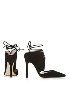 Shoes | Heels & Pumps | Gillian Suede Ghillie Pumps | Hudson's Bay