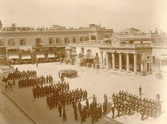 Main Guard with British Troops on St. George's Square in 1899