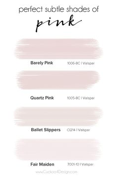 perfect subtle shades of pink - Cuckoo4Design