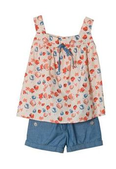 Printed Tank and Shorts. wish they made cute clothes like this in my size. dangit! why do children get all the cute clothes! ah!