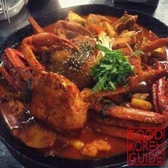 Boiled Chicken with Crab (jjimdak) 대게찜닭