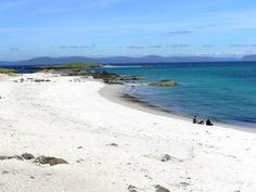 Iona's Northerly beach boasts a white sand a green sea location facing the dramatic landscape of neighbouring isle of Mull Scotland Beach, West Coast Scotland, Scotland Travel, Scotland Trip, Highlands Scotland, Isle Of Iona, British Beaches, Outer Hebrides, Scottish Islands