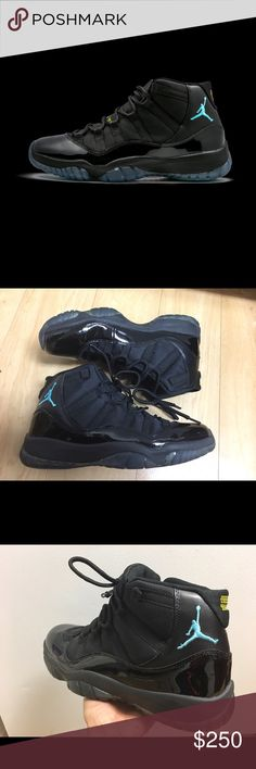 """Air Jordan 11 Retro """"Gamma"""" Men's size 11 it's belong my hubby he worn only one time not his style so still in great condition paid a lot for this pairs Jordan Shoes Athletic Shoes"""