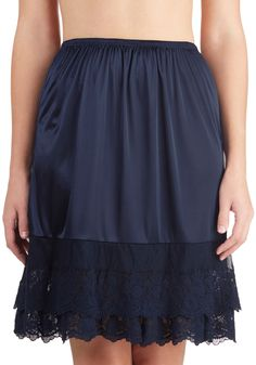Can't Stop Dancing Half Slip in Navy. It looks like someones been struck with boogie fever! #blue #modcloth