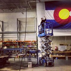 Hooking up the lifelines to the presses. Getting ready for heavy production week at the new location #fashion #art #apparel #streetart #streetwear #superiorink #denver