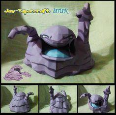 Pokemon - Muk Ver.2 Free Papercraft Download - http://www.papercraftsquare.com/pokemon-muk-ver-2-free-papercraft-download.html#Muk, #Pokemon