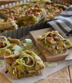 torta salata ai porri Empanadas, Quiche, Antipasto, Yummy Cakes, Cooking Time, Finger Foods, Buffet, Vegetarian Recipes, Easy Meals