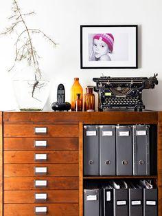 storage space - Home & Accessories Home Interior, Interior And Exterior, Interior Design, Office Workspace, Home Office, Workspace Inspiration, Office Storage, Office Interiors, Decoration