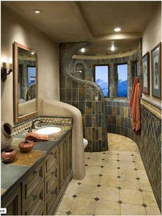 Bathroom ideas for a narrow bathroom
