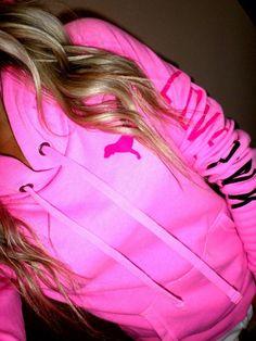Pink by Victoria's Secret neon pull over side sleeve logo hoodie sweatshirt XS