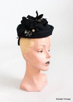 Vintage 1930s Black Orchid Tilt via Etsy.
