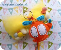 details of felt baby boys favours-helicopter