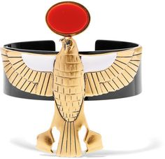 Givenchy - Falcon Arm Cuff In Gold-tone, Enamel And Resin