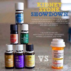 KIDNEY STONE Showdown! Lemon Dropper Bomb = 5 drops each balsam fir, copaiba and frankincense in capsule