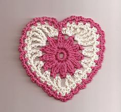 Floral Heart Motif - free pattern