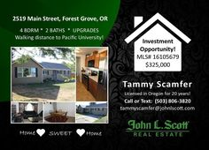 For sale in Forest Grove, Oregon. Conveniently located near to Pacific University, Forest Grove Aquatic Center, and Lincoln Park.